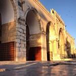 بعدسة زينب أبو ميالة - واجهة المصلى القبلي الرئيسي عند شروق الشمس