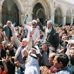 من مشاهد الحشد والرباط في المسجد الأقصى في أحد أيام النفير إلى المسجد المبارك لمواجهة دعوات اقتحام صهيونية لساحات المسجد