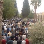 من صلاة جمعة في الساحات الغربية للمسجد الأقصى