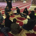 داخل المصلى القبلي الرئيسي في جنوبي المسجد الأقصى