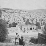 صورة قديمة لمدينة الخليل المقامة حول مسجد إبراهيم عليه السلام