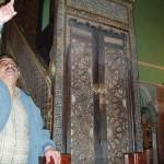 منبر فاطمي في المسجد الإبراهيمي جلبه صلاح الدين من عسقلان بعد نصر حطين
