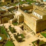 منظر شامل للمسجد الإبراهيمي من أعلى