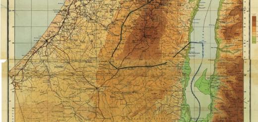 خريطة فلسطين الانتدابية باللغة الإنجليزية